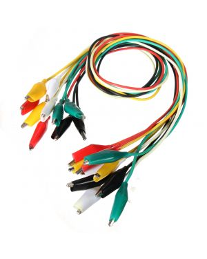 10pcs 50cm Alligator Clip Testing Leads