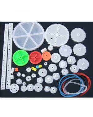 43pcs Plastic Gear Set Car Robot Gearbox Kit